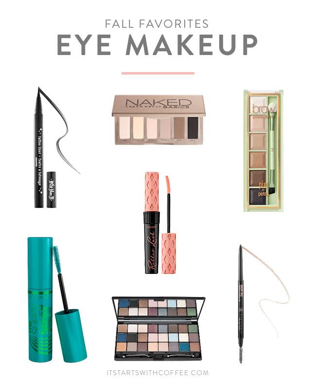 Fall Eye Makeup Favorites