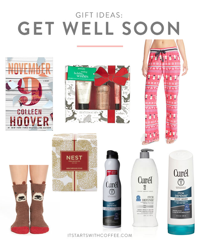 Gift ideas get well soon it starts with coffee