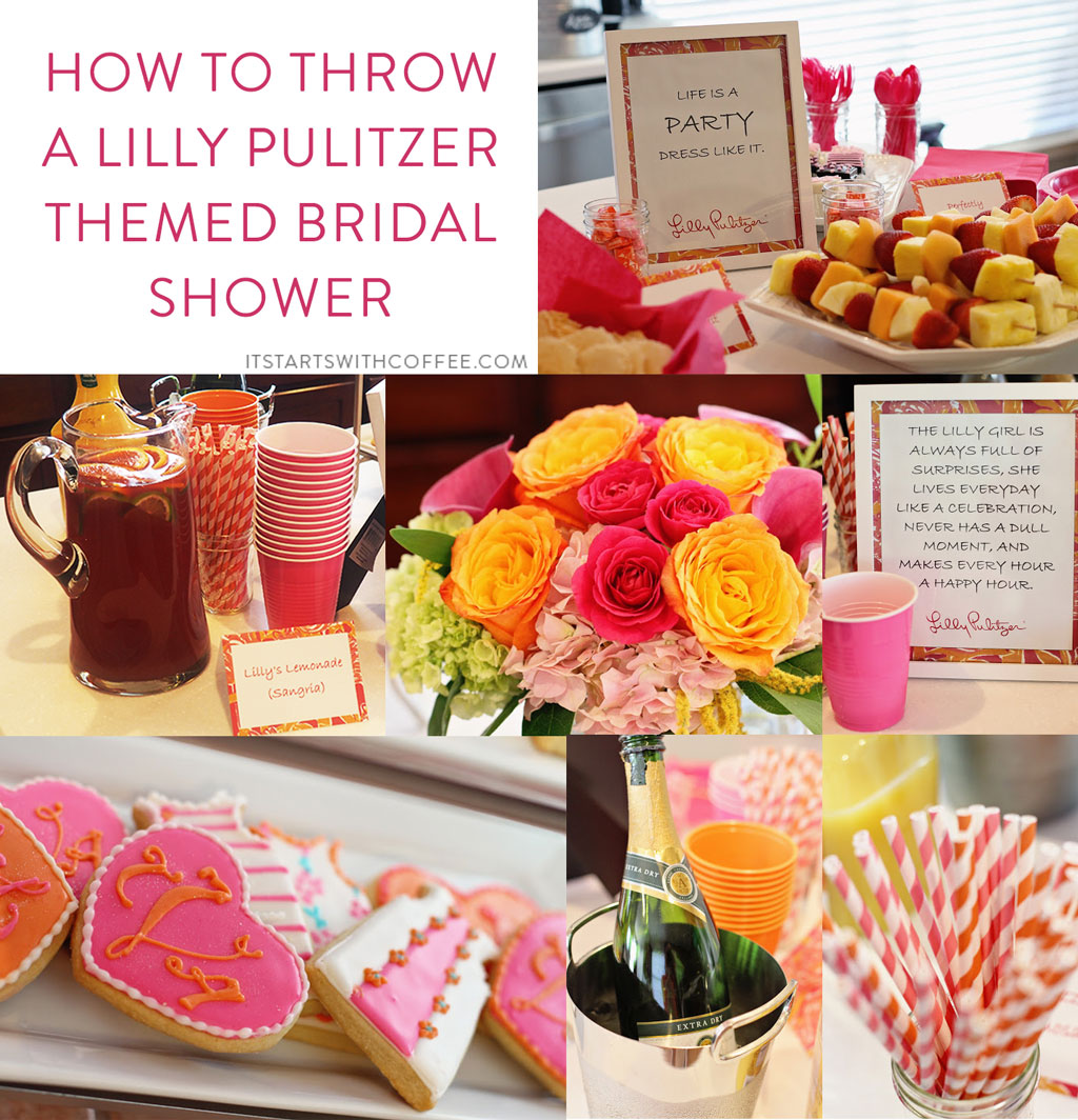 how to throw a lilly pulitzer themed bridal