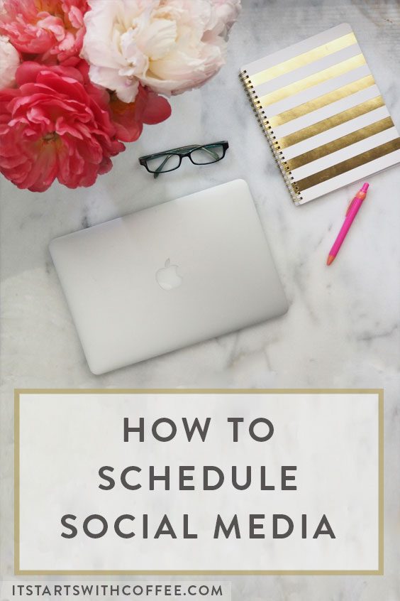 how to schedule out social media