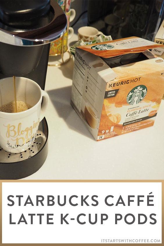 Starbucks Caffe Latte K Cup Pods It Starts With Coffee