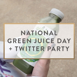 National Green Juice Day + Twitter Party
