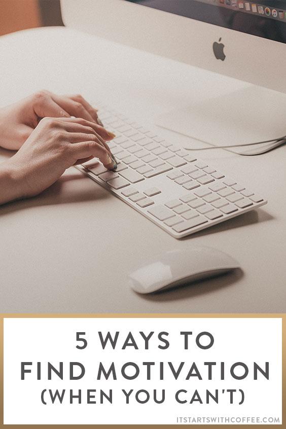 ways to find motivation