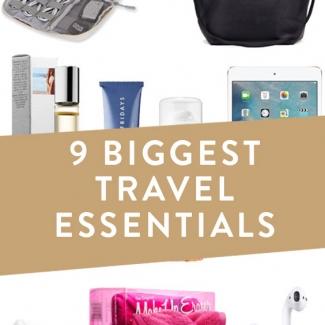 9 Biggest Travel Essentials