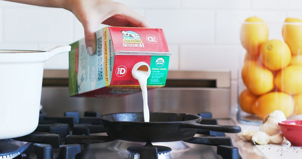 Cooking with Horizon Organic Milk for Kids