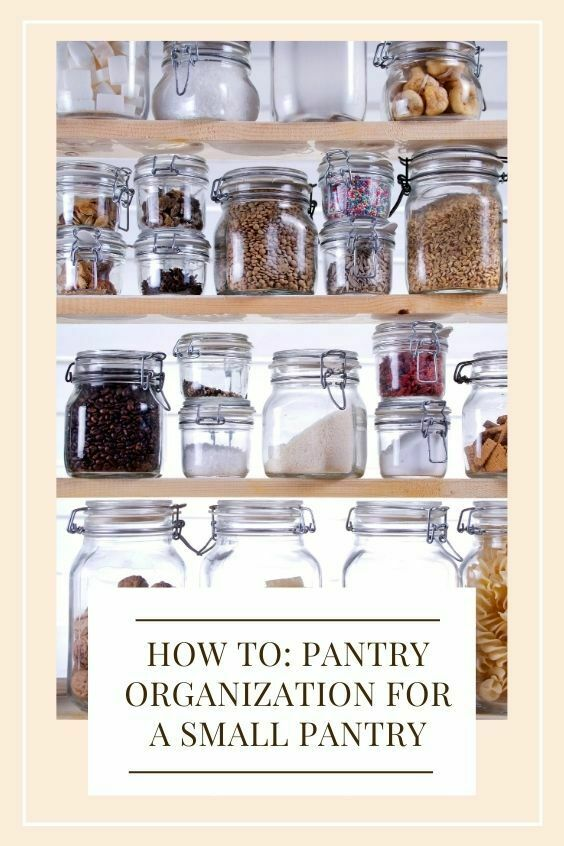 pantry organization for a small pantry