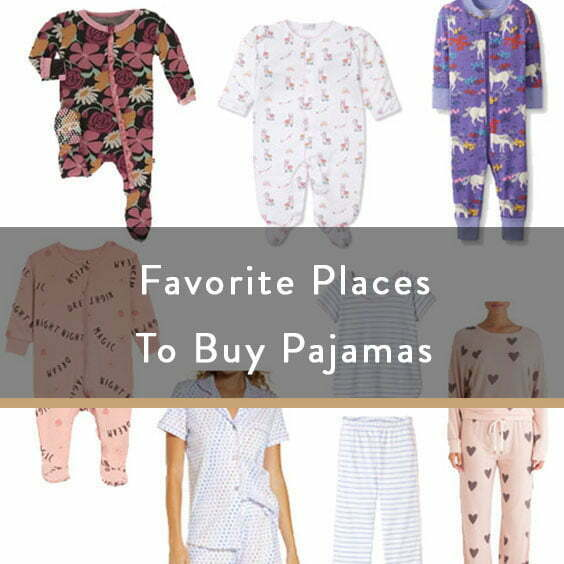 Favorite Places To Buy Pajamas