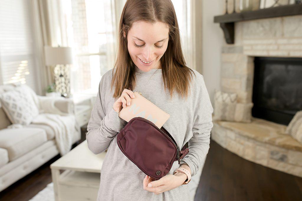 lululemon belt bag in cassis